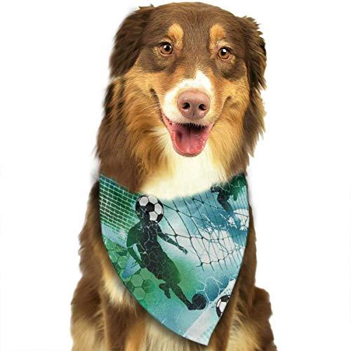 FunnyStar hond Bandana sport voetbal jongen voetbal blauw groene sjaals accessoires decoratie voor huisdier katten en puppies