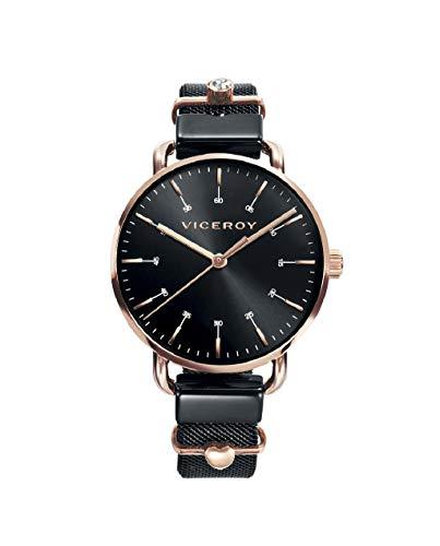 Viceroy 42354-57 Reloj de Mujer Cuarzo Acero IP Rosa y IP Negro Malla Tamaño 32 mm