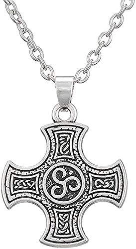 FACAIBA Collar, Collar, Colgante, Collar, joyería pagana, Collar con diseño de pez, para Mujeres y Hombres