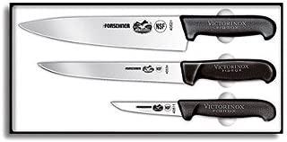 Victorinox Cutlery 3-Piece Chef's Set, Black Fibrox Handles