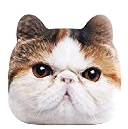 GENIAL アニマルフェイス モバイルバッテリー カワイイ スペースジョイ スマホ充電器 スマホバッテリー スマートフォン充電 猫 ネコ 充電池 4400mAh コンパクト (ガーフィールド)