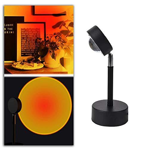 JPENG Sunset Lamp Lámpara de Proyección Sunset Lámpara LED de Proyección ai Atardecer Lámpara de Proyección De Puesta de Sol para Decoración de Fondo