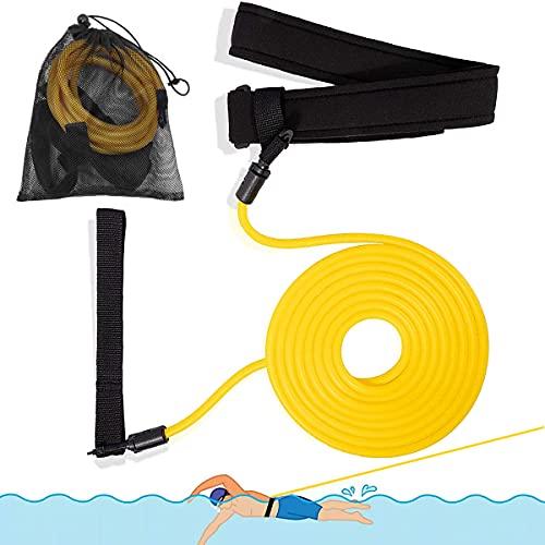 Cintura da Nuoto, Piscina Cintura da Allenamento, Cintura di Resistenza Nuoto, Elastico da Nuoto Cintura per Bambini/Professionisti/Dilettanti (4M)