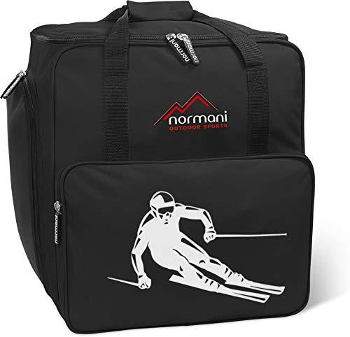 normani Skischuhtasche mit separatem Helmfach und Rucksackfunktion Alpine DEPO Farbe Schwarz