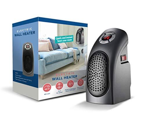 TECHNOSMART 400 W Heizlüfter mit Thermostat, Mini Elektroheizung mit Timer, Heizung tragbar, energiesparende Raumheizung für Zuhause und Büro