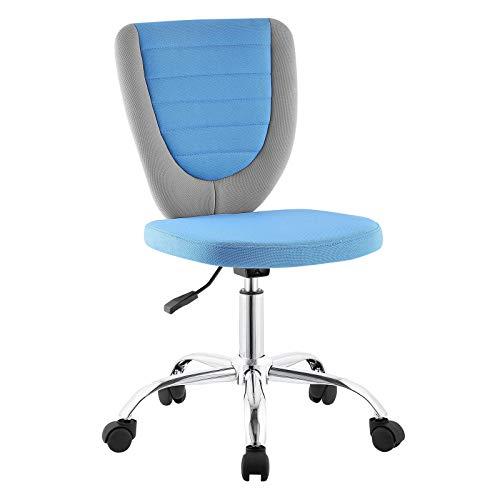 CARO-Möbel Kinderdrehstuhl Future Schreibtischstuhl Drehstuhl in grau/blau, höhenverstellbar