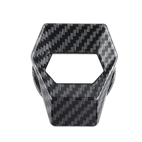 Cubierta del botón del motor del coche, cubierta del botón de parada del arranque del motor del coche, etiqueta engomada decorativa universal para accesorios interiores de auto