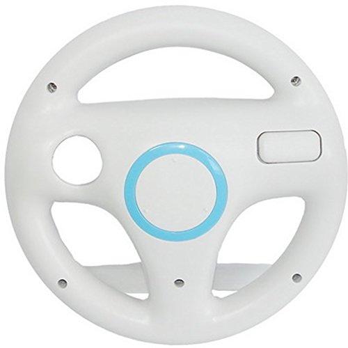 SMARDY Course/Racing Volant Blanc pour Nintendo Wii et télécommande Wii U