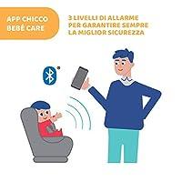 Chicco Bebècare Easy-Tech Dispositivo Anti Abbandono Universale per Seggiolino Auto, App, Bluetooth, 3 Livelli di Allarme, Allarmi Intelligenti - Bianco/Blu #5