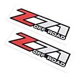 2X Z71 Off Road Decals Stickers for Chevy Silverado Z71 2001-2006 Bed Side 1500 2500 HD (01-06 Red)