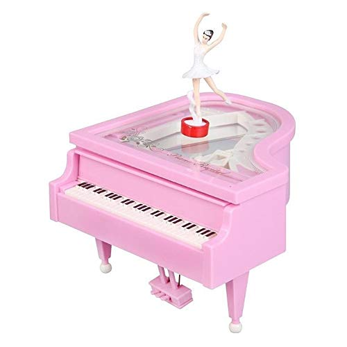 Romantische Classic Piano Model Dansende Ballerina Music Box Handslinger speeldozen Gift van de Verjaardag van het Huwelijk QPLNTCQ (Color : Pink, Size : Free)
