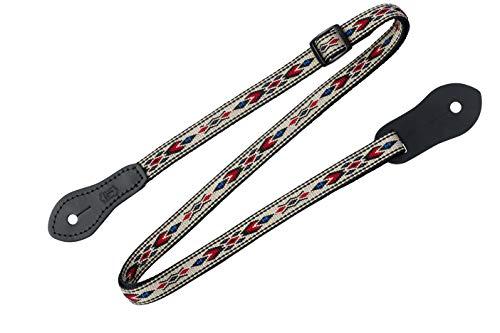 Levy's Leathers 1/2' Jacquard Weave Mandolin/Ukulele Strap with Dual Leather Strap Pin Ends. Adjustable to 50' (MJ19UKE-003)
