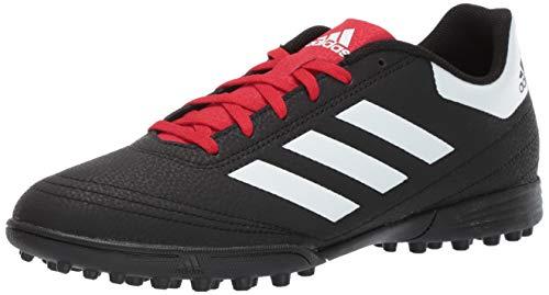 adidas Men's Goletto VI Turf Football Shoe, Black/White/Scarlet, 9.5 M US