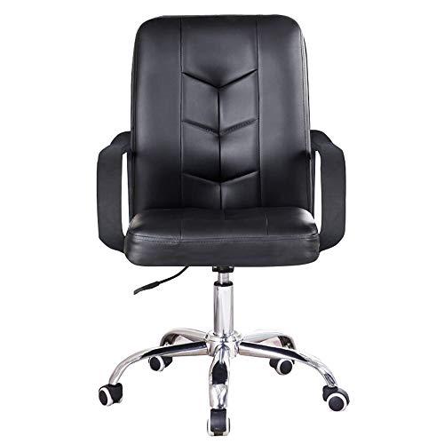 LXYu- Office Chair Sillas para escritorios de Oficina con reposabrazos Respaldo Medio ergonómico Desigm 360 ° Giratorio Altura Ajustable