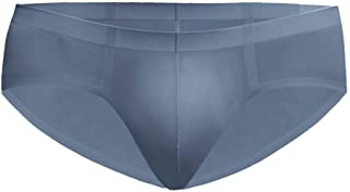 JUSTWIN Men's Seamless Briefs Sexy Transparent U Convex Ultra-Thin Briefs Perspective Perspective Seamless Underwear