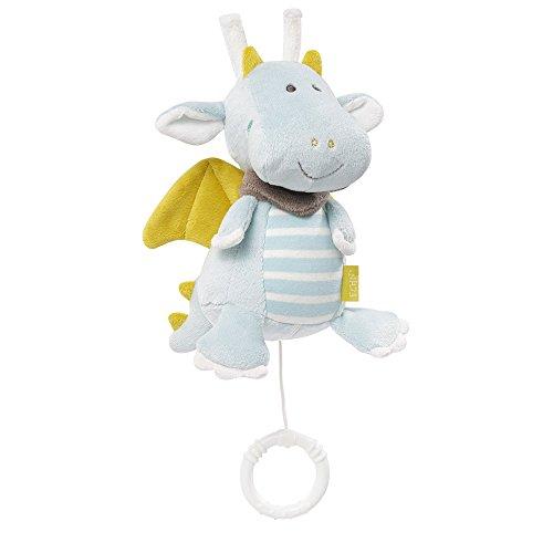Fehn 065015 Spieluhr Drache – Aufzieh-Spieluhr mit herausnehmbarem Spielwerk – Für Babys und Kleinkinder ab 0+ Monaten – Maße: 17 cm