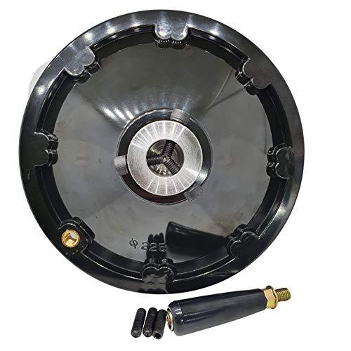 Das ultimative große Handrad Durchmesser.225mm Für alle Wellen kleiner als groß 25.4mm [made in Korea] Maschinenverriegelungsschraube für Fräsdrehmaschine Für Tischkreissäge-Bohrmaschine