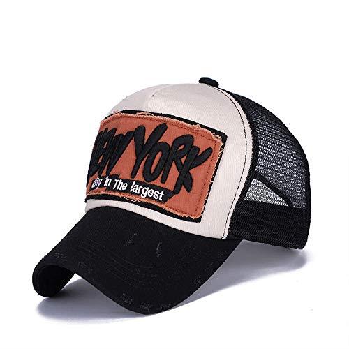 Yidajiu Zonnehoed baseballmuts zomermuts gebreide muts heren dames hoeden casual hip hop 55-60cm Zwart