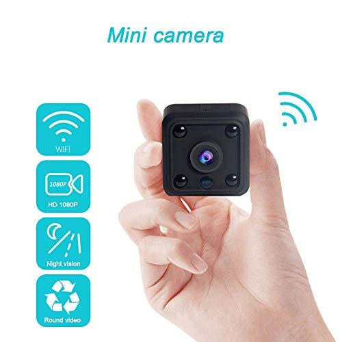 Mini cámara, Full HD 1080P IP Wifi doble lente cámara secreta control remoto inalámbrico Micro cámara para Hoom deportes al aire libre, 1080P + 32GB DUZG