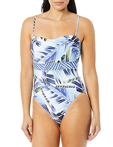 La Blanca Women's Standard Bandeau One Piece Swimsuit, Blue//Two Cool, 16