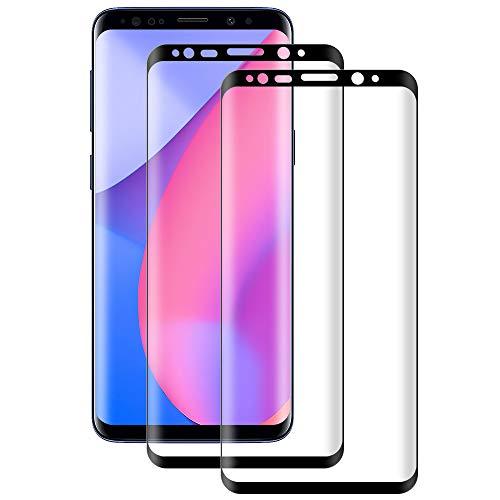 DOSMUNG Cristal Templado para Samsung Galaxy S8 Plus, [2 Pack] Vidrio Templado de Samsung S8 Plus, Cobertura Completa/Dureza 9H/3D Curvado/Anti Arañazos Protector de Pantalla para Galaxy S8 Plus