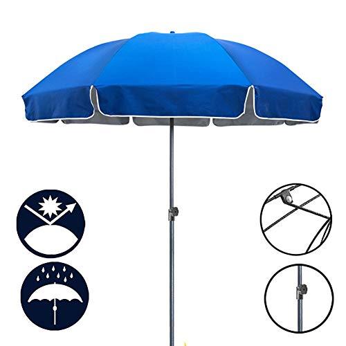 ZJM Sonnenschirm Höhenverstellbarer Markttischschirm, Sonnenschutz Sonnenschirm mit Stahlstangen, für Gartenrasen, 86,8