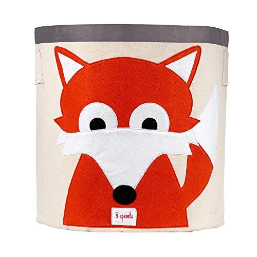 3 Sprouts Aufbewahrungskorb Fuchs, mehrfarbig