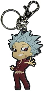 """Great Eastern Entertainment 85378 The Seven Deadly Sins- Ban PVC Keychain, 2"""", Multicolor"""