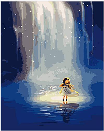 Digitale Schilderen door Getallen Kits Kleine Meisje Het spelen van de viool Olieverfschilderij op Canvas Muurdecoratie voor Home Gift voor Nieuwe Accommodatie Bruiloft voor Volwassenen Kids Beginners