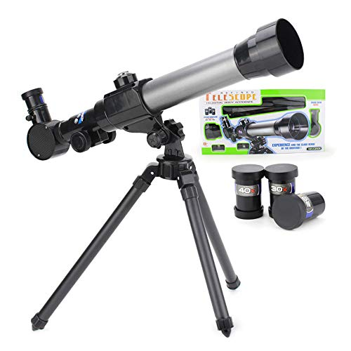 Direct Telescope for Kids with Tripod and 3 Magnification Eyepieces ,Portable Telescope Travel Telescope for Kids & Beginners,47x45cm