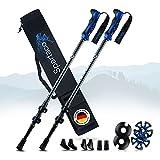 SPARTACO® Bastoni da trekking Premium 7075 ultraleggeri in alluminio – Regolabili da 65...
