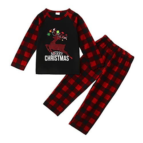 Haokaini Pijamas de Navidad Familiar Conjunto de ropa de juego para toda la familia, Niño, 3-4 Años