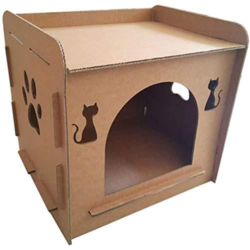 Vasko - Gato para casa con forma de nido de cartón ondulado, caturo