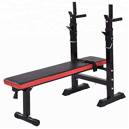 Grabacz Weight Bench Adjustable Standard Workout Bench with Dip Station Folding Heavy Duty Weight Lifting Bench Home Training Gym Weight Bench Chest Press Sit Up
