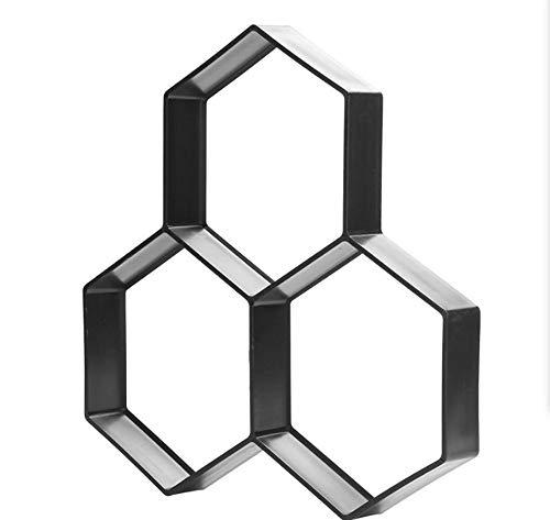 ZHOUGTRY Hexagon Pflaster Schablone Garten DIY Kunststoff Pfad Hersteller Pflaster Modell Wiederverwendbar