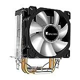 H HILABEE 3 Pin CPU Enfriador radiador disipador de Calor CPU Enfriador Ventilador para LGA775/1150/1151/1155/1156/1366 AM3/AM2