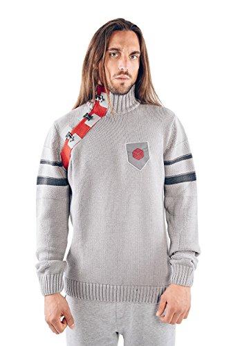 Musterbrand Destiny Suéter Tejido Hombre Defender Knit Sweatshirt Gris L