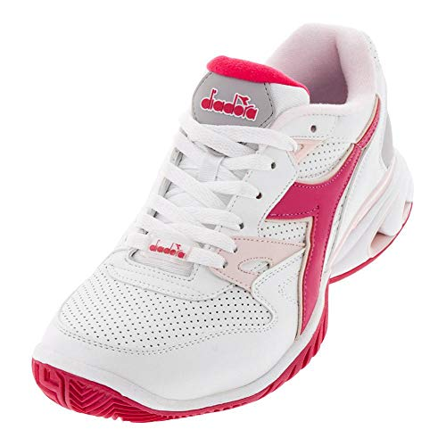 Diadora Womens S.Star K Ace AG Tennis Casual Shoes, White, 8.5