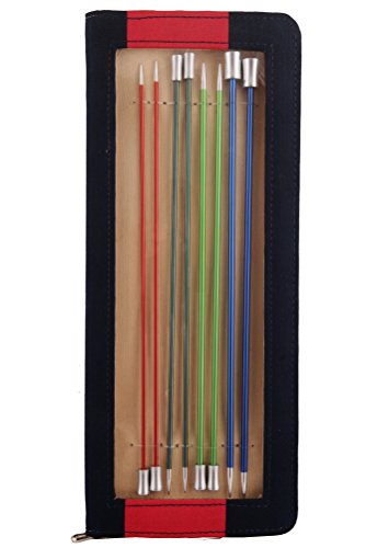 Knit Pro 40 cm para Cama Individual de Tejer con Extremo de Aluminio Zing Juego de, Multi-Color