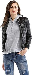 Women's Light Weight Short Puffer Jacket Coat,Zip Up Jacket for Women - Black