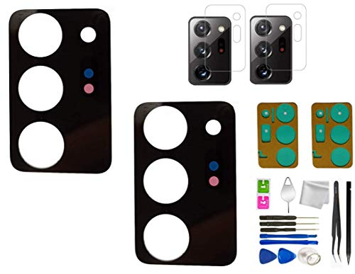 2X Galaxy Note 20 Ultra Rear Back Camera Glass Lens Replacement for Samsung Galaxy Note 20 Ultra 5G with Camera Lens Protector (All Carriers) +Repair Tools