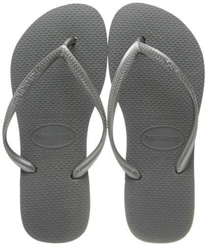 Havaianas Slim, Chanclas para Mujer, Gris (Grey/Silver 0982), 33/34 EU