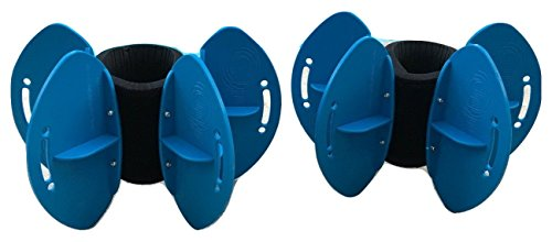 Cheapest Prices! AquaLogix Blue Max Resistance Aquatic Fins - Omnidirectional Water/Drag Resistance ...