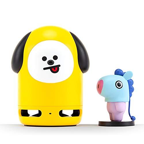 BT21 Offizielles BTS Friends Duo Bluetooth-Stereo-Lautsprecher und Figuren-Set für Zuhause, Outdoor, Reisen Speaker CHIMMY + Figure MANG
