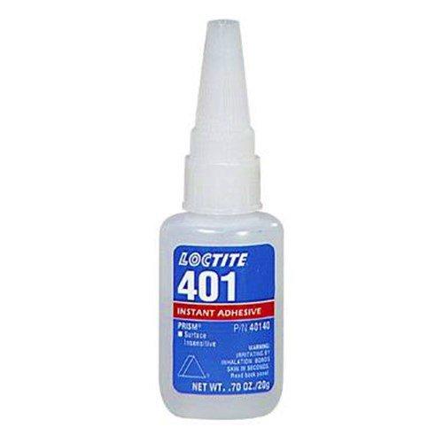 Loctite 401 Super Glue - Sofortklebstoff - 20G - Sticks Metall, Gummi, Keramik Allzweck. Niedrige Viskosität. Ideal für den Einsatz auf saugenden Untergründen.