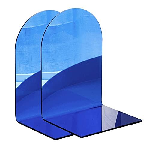 Sujetalibros de acrílico con extremo de libro, extremos transparentes, tapón de libro, organizador de escritorio, decoración para libros pesados, papelería, regalo decorativo (color: un par A)