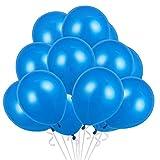 Globos Azul, 100 Globos Plata Helio Latex Plata Ø 30 cm para Fiesta Decoracion