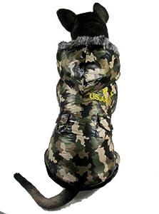 Evergreens Manteau camouflage veste coupe-vent imperméable pour chien Manteau pour chien de moyenne/grande taille