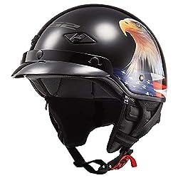 LS2 Helmets Bagger Motorcycle Half Helmet