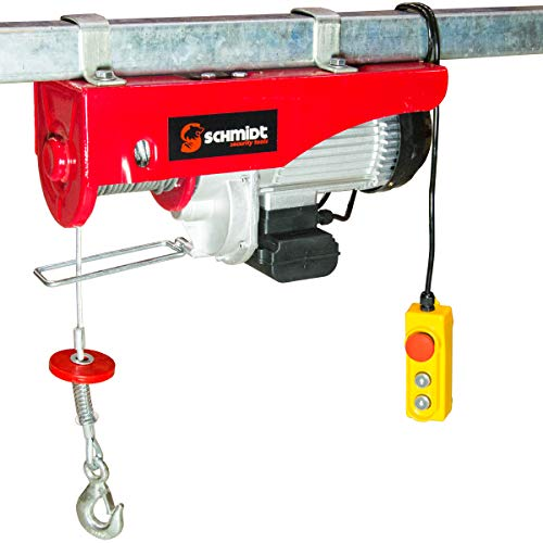 Elektrische Seilwinde Motorwinde Flaschenzug Kran Seilzug Winde für bis 1000 kg 12m Stahlseil SCHMIDT security tools